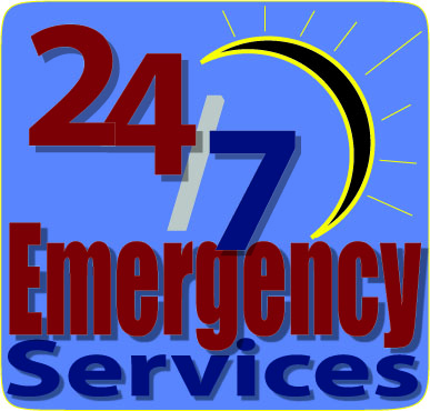 24 hours 7 days a week emergency services